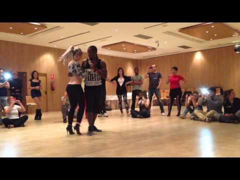 Sara Lopez & Enah Lebon improvised kizomba demo